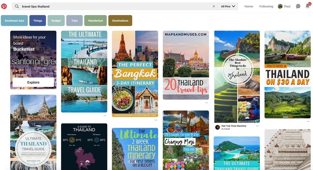 Pinterest Travel Advertising